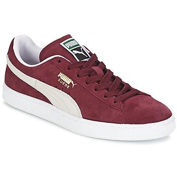 Topánky Nízke tenisky Puma SUEDE CLASSIC červená / Biela
