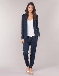 Oblečenie Ženy Tepláky a vrchné oblečenie Cream BEATE PANTS Námornícka modrá