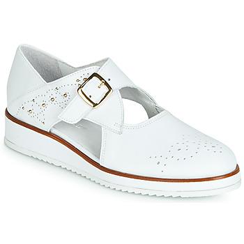 Topánky Ženy Derbie Regard RIXALO V1 NAPPA BLANC Biela