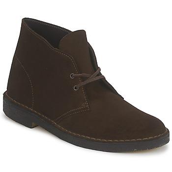 Topánky Muži Polokozačky Clarks DESERT BOOT Hnedá