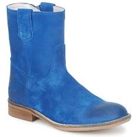 Topánky Dievčatá Polokozačky Hip DIRAN Modrá