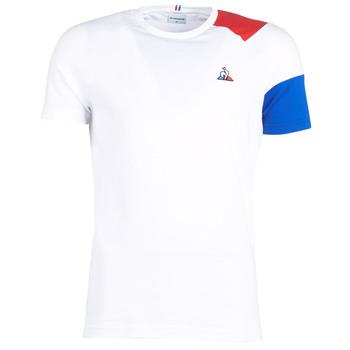 Oblečenie Muži Tričká s krátkym rukávom Le Coq Sportif ESS Tee SS N°10 M Biela / Červená / Modrá