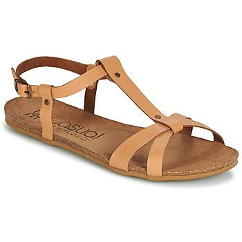 Topánky Ženy Sandále Casual Attitude JALIYAXE Ťavia hnedá