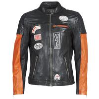 Oblečenie Muži Kožené bundy a syntetické bundy Oakwood INDIE Čierna / Oranžová