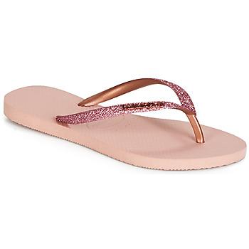 Topánky Ženy Žabky Havaianas SLIM GLITTER Ružová
