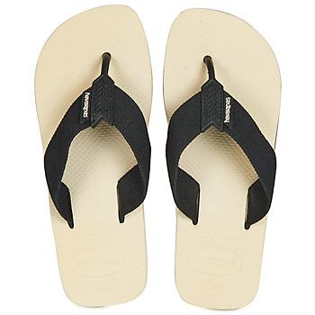 Topánky Muži Žabky Havaianas URBAN BASIC Béžová