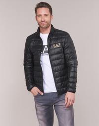 Oblečenie Muži Vyteplené bundy Emporio Armani EA7 TRAIN CORE ID DOWN LT Čierna / Zlatá