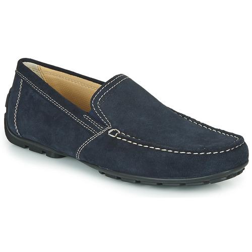 Topánky Muži Mokasíny Geox MONET Modrá