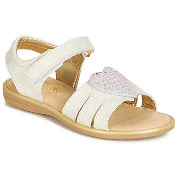 Topánky Dievčatá Sandále Citrouille et Compagnie JAFILOUTE Biela