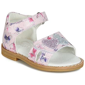 Topánky Dievčatá Sandále Citrouille et Compagnie JARILOUTE Ružová
