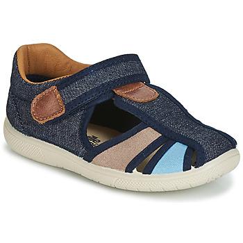 Topánky Chlapci Sandále Citrouille et Compagnie JOLIETTE Jean / Modrá / Béžová