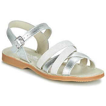 Topánky Dievčatá Sandále Citrouille et Compagnie JAGUINOIX Šedá / Strieborná