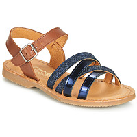 Topánky Dievčatá Sandále Citrouille et Compagnie JOLICOTE Námornícka modrá / Ťavia hnedá
