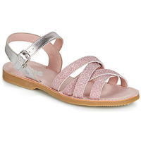 Topánky Dievčatá Sandále Citrouille et Compagnie JARDINA Ružová