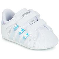 Topánky Dievčatá Nízke tenisky adidas Originals SUPERSTAR CRIB Biela
