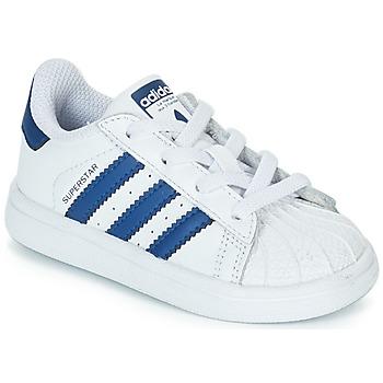 Topánky Deti Nízke tenisky adidas Originals SUPERSTAR EL Biela / Modrá