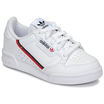 Topánky Deti Nízke tenisky adidas Originals CONTINENTAL 80 C Biela