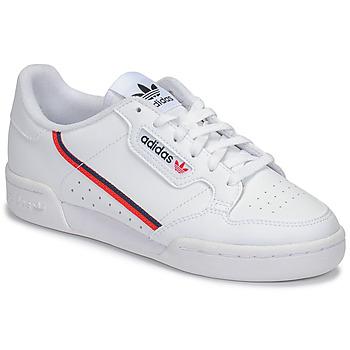 Topánky Deti Nízke tenisky adidas Originals CONTINENTAL 80 J Biela