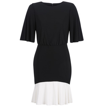 Oblečenie Ženy Krátke šaty Lauren Ralph Lauren ELBOW SLEEVE DAY DRESS Čierna / Biela