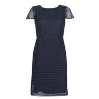 Oblečenie Ženy Krátke šaty Lauren Ralph Lauren NAVY SHORT SLEEVE DAY DRESS Námornícka modrá