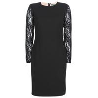 Oblečenie Ženy Krátke šaty Lauren Ralph Lauren LACE PANEL JERSEY DRESS Čierna