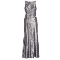 Oblečenie Ženy Dlhé šaty Lauren Ralph Lauren SLEEVELESS EVENING DRESS GUNMETAL Šedá / Strieborná