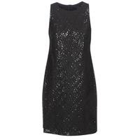 Oblečenie Ženy Krátke šaty Lauren Ralph Lauren SEQUINED SLEEVELESS DRESS Čierna
