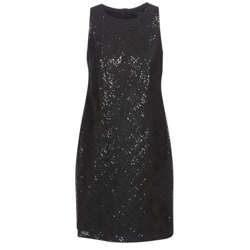 Oblečenie Ženy Krátke šaty Lauren Ralph Lauren SEQUINED SLEEVELESS DRESS  Čierna 09b30101427
