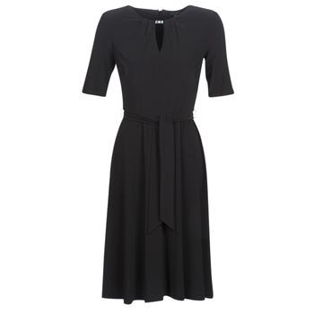 Oblečenie Ženy Krátke šaty Lauren Ralph Lauren 3/4 SLEEVE  JERSEY DAY DRESS Čierna