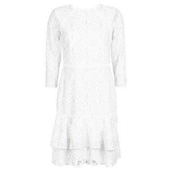 Oblečenie Ženy Krátke šaty Lauren Ralph Lauren LONG SLEEVE-LACE DAY DRESS Biela / Čierna