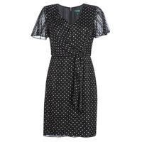 Oblečenie Ženy Krátke šaty Lauren Ralph Lauren POLKA DOT-SHORT SLEEVE-DAY DRESS Čierna