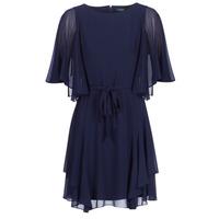 Oblečenie Ženy Krátke šaty Lauren Ralph Lauren NAVY-3/4 SLEEVE-DAY DRESS Námornícka modrá