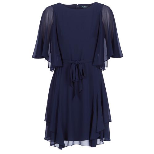 b67cf3f48c Oblečenie Ženy Krátke šaty Lauren Ralph Lauren NAVY-3 4 SLEEVE-DAY DRESS