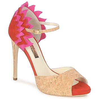 Topánky Ženy Sandále Rupert Sanderson FLAMANTE Červená / Čierna