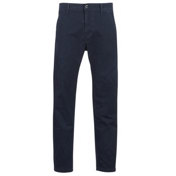 Oblečenie Muži Nohavice Chinos a Carrot G-Star Raw BRONSON STRAIGHT TAPERED CHINO Námornícka modrá