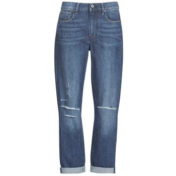 Oblečenie Ženy Džínsy Boyfriend G-Star Raw 3302 SADDLE MID BOYFRIEND Modrá / Medium / Aged