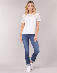 Oblečenie Ženy Rovné džínsy G-Star Raw MIDGE SADDLE MID STRAIGHT Modrá / Medium / Modrá indigová / Aged