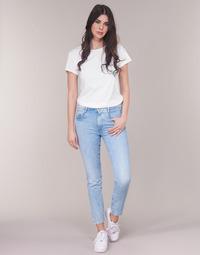 Oblečenie Ženy Rovné džínsy G-Star Raw RADAR MID BOYFRIEND TAPERED Modrá / Light / Aged