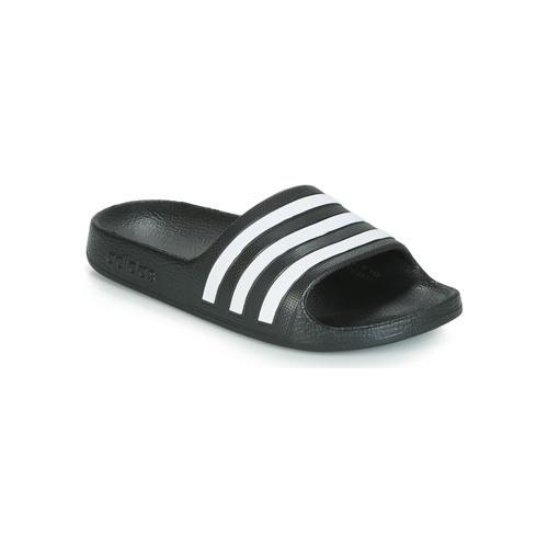 Topánky Deti športové šľapky adidas Performance ADILETTE AQUA K Čierna / Biela