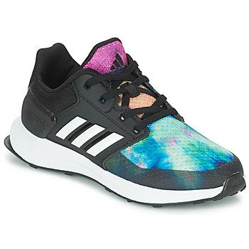 Topánky Dievčatá Bežecká a trailová obuv adidas Performance RAPIDARUN X K Čierna