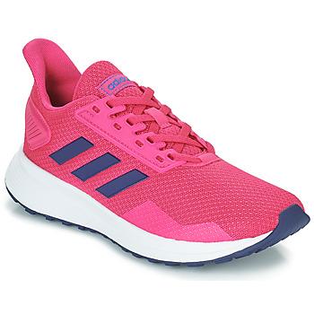 Topánky Dievčatá Bežecká a trailová obuv adidas Performance DURAMO 9 K Ružová