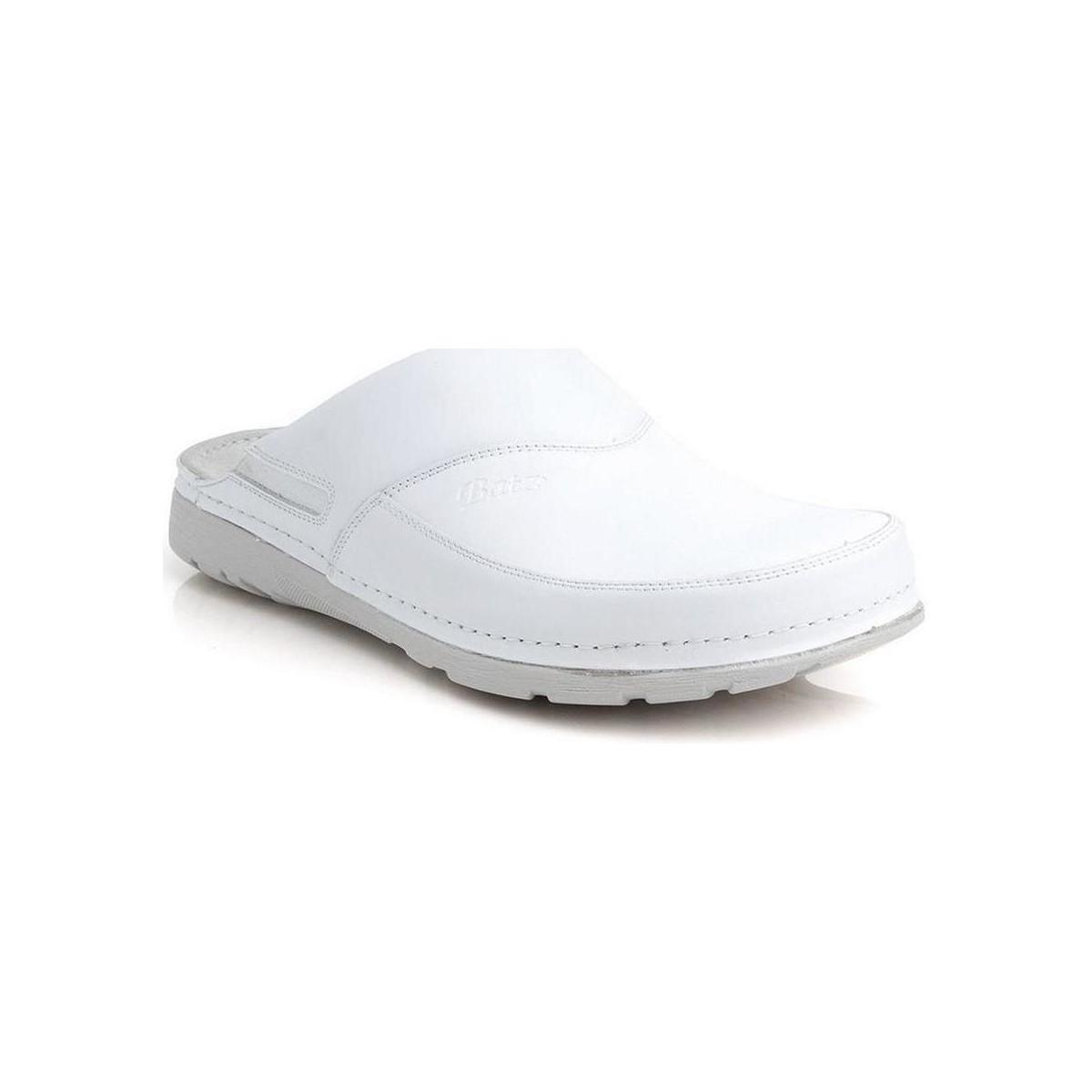 42a297891b4d Batz Pánske biele zdravotné šľapky PETER biela - Topánky Nazuvky Pani 59
