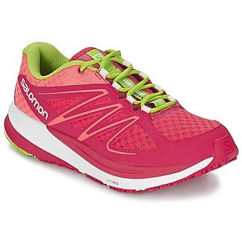 Topánky Ženy Bežecká a trailová obuv Salomon SENSE PULSE WOMAN Ružová / Oranžová / Zelená