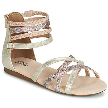 Topánky Dievčatá Sandále Bullboxer AED009 Zlatá / Ružová