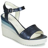 Topánky Ženy Sandále Stonefly ELY 7 LAMINATED LTH Modrá