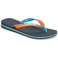 Topánky Žabky Havaianas BRASIL MIX Námornícka modrá / Oranžová