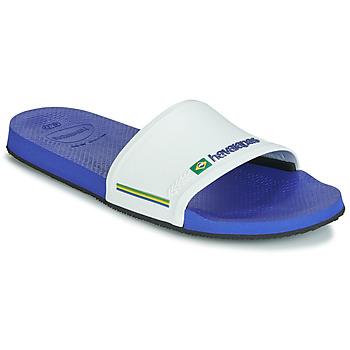 Topánky športové šľapky Havaianas SLIDE BRASIL Námornícka modrá / Biela