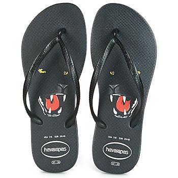 Topánky Ženy Žabky Havaianas SLIM ANIMAL PRINT Čierna