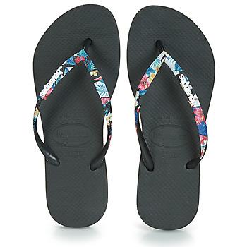 Topánky Ženy Žabky Havaianas SLIM STRAPPED Čierna