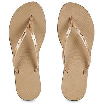 Topánky Ženy Žabky Havaianas YOU MAXI Ružová / Zlatá